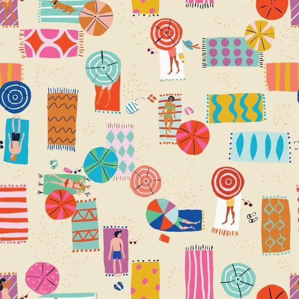 Sandy Beaches summer beach fabric
