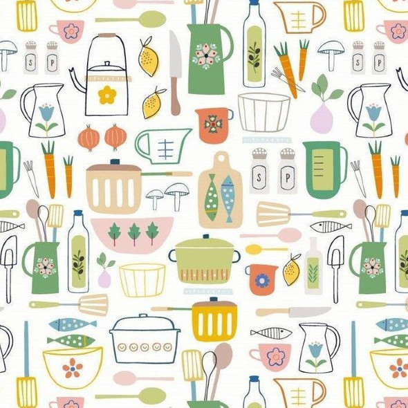 Vintage Dish collection fabric
