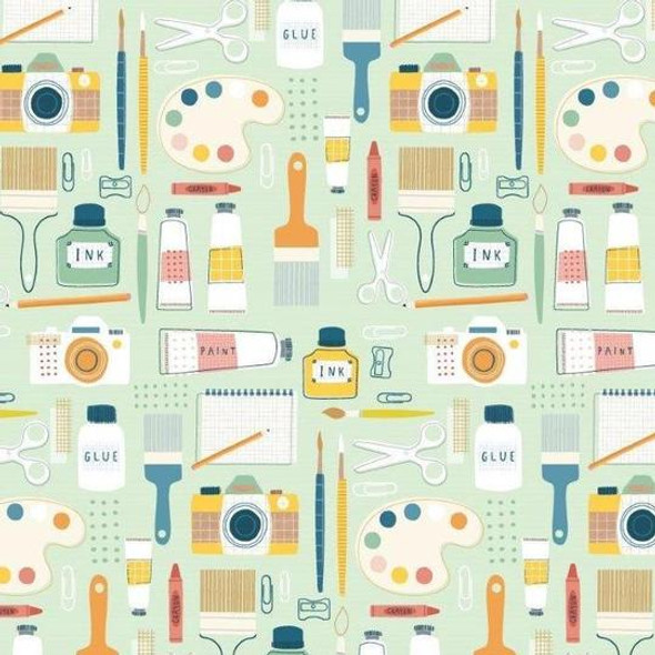 Modern Crafter sewing fabric, Dashwood Studio cotton QTR YD