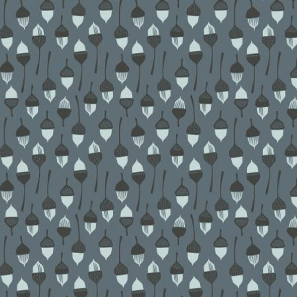 Dark acorn fabric In the Woods modern cotton