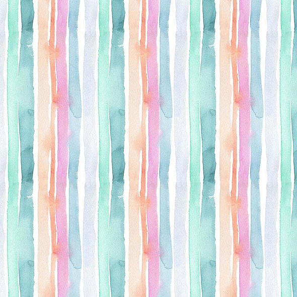 Watercolor Summer Stripe fabric Dear Stella quilt cotton