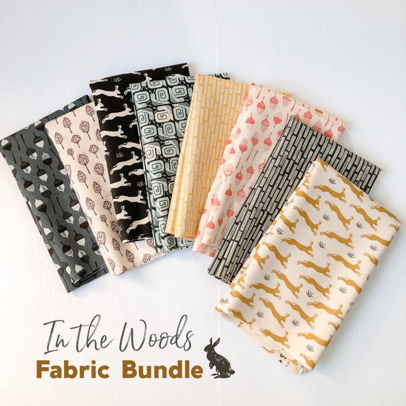 In the Woods quilt cotton Cotton + Steel 8 piece fabric bundle