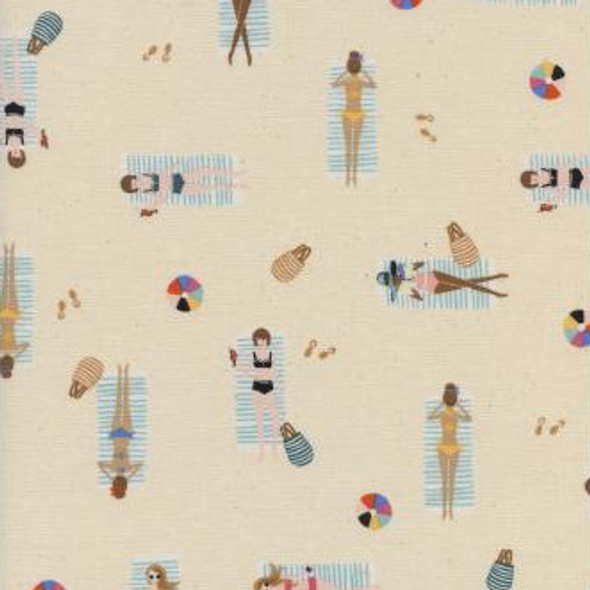 Cream Sun Girls cotton fabric Rifle Paper Co Amalfi