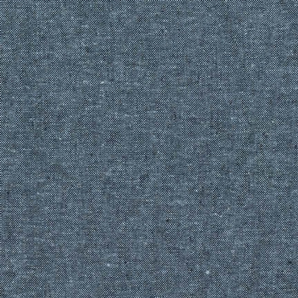 Nautical blue Essex yarn dyed linen Robert Kaufman