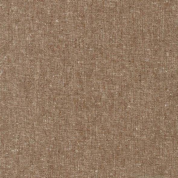 Brown nutmeg texture linen yarn dyed fabric Robert Kaufman Essex