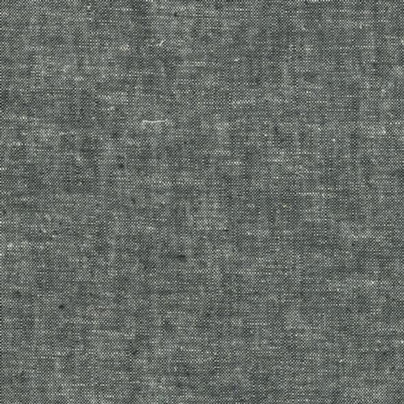 Black Essex yard dyed linen fabric Robert Kaufman