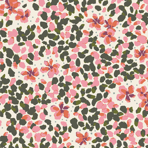 Jasmine Soulful bright floral fabric Velvet Art Gallery Fabrics
