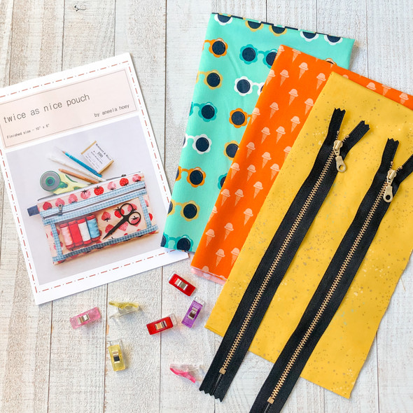 Twice As Nice Zipper Pouch Project Box Kit - clear zipper pouch project
