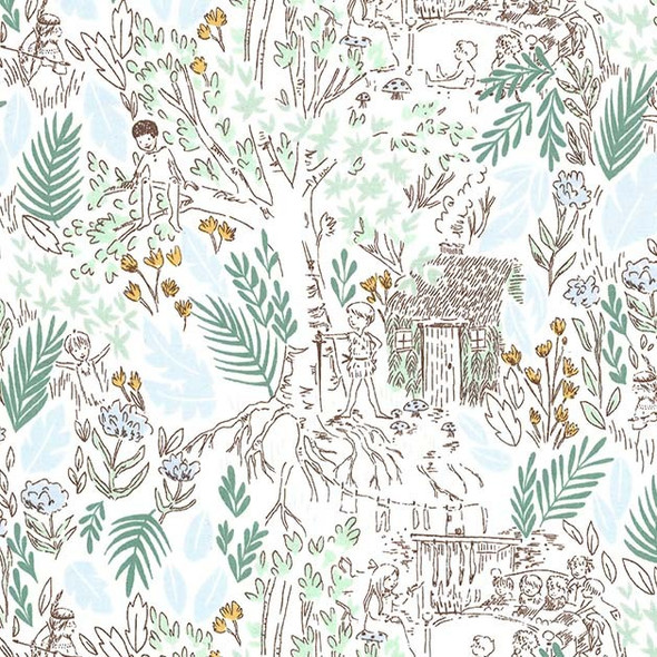 Peter Pan Boys cotton fabric The Little House Michael Miller Fabrics QTR YD
