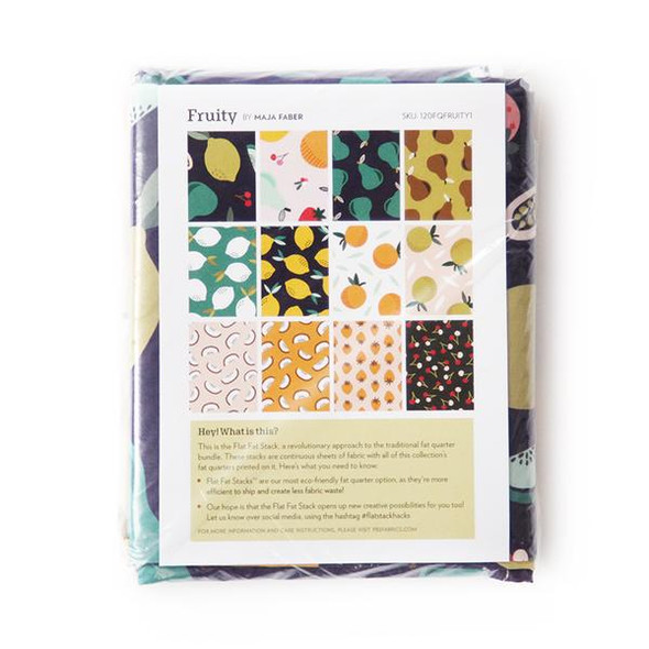 Fruity navy fabric Fat Quarter 12 piece bundle Paintbrush Studio quilt cotton