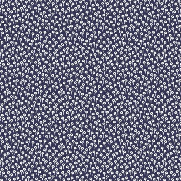 Navy tapestry dot Basics quilt cotton Rifle Paper Co. navy dot fabric
