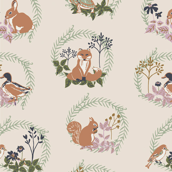 Woodland Forest Friends animal fabric AGF Lilliput quilt cotton QTR YD