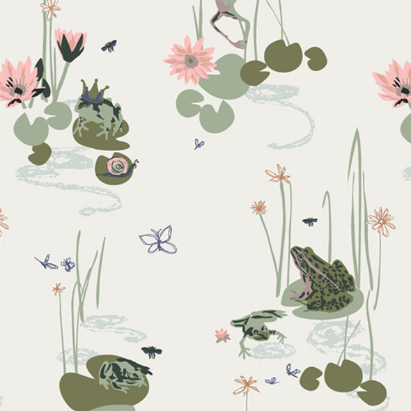 Frog Pond Lillypad cotton fabric Bog Party Lilliput Art Gallery Fabrics QTR YD