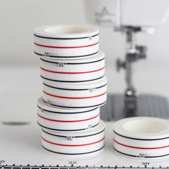 Diagonal Seam Tape - white seam washi tape Cluck Cluck Sew
