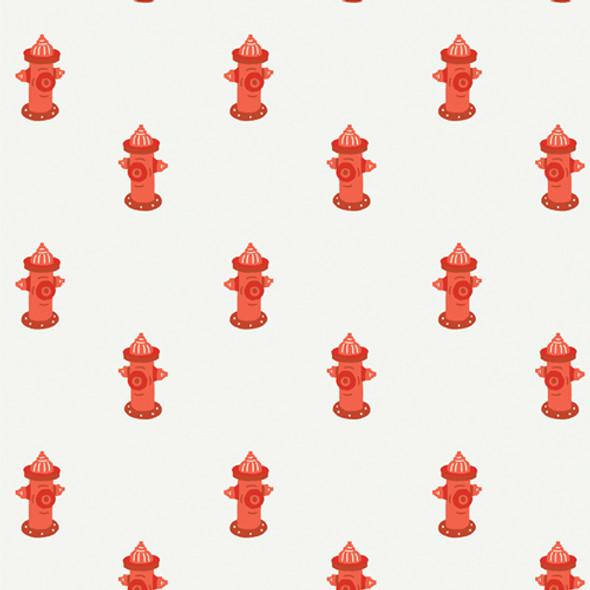 Red Fire Hydrant dog quilt cotton fabric - Potty Break Art Gallery Fabrics