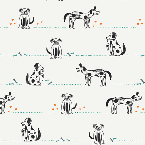 Dog fabric Good Pup quilt cotton Oh, Woof! Art Gallery Fabrics
