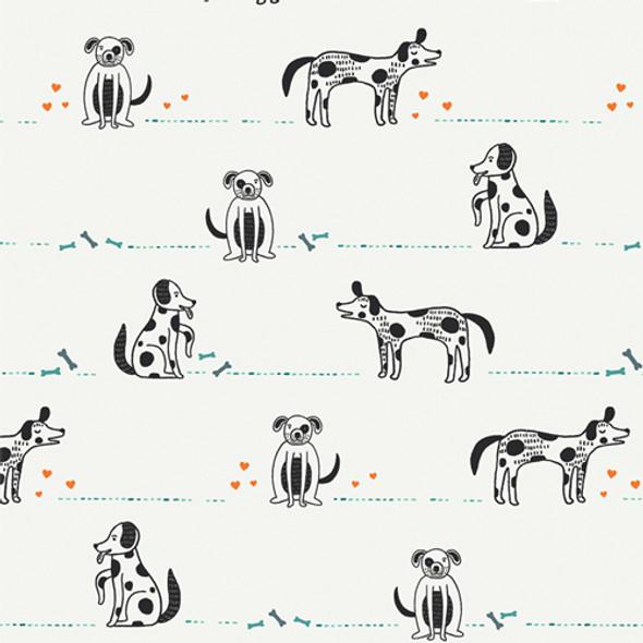 Dog fabric Good Pup quilt cotton Oh, Woof! Art Gallery Fabrics