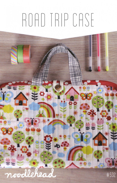 Road Trip Case sewing pattern Travel case pattern - Noodlehead paper pattern