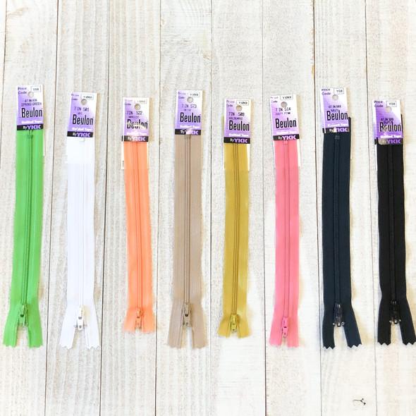 Beulon Knitted Tape Zipper 7 inch - YKK Lightweight zipper