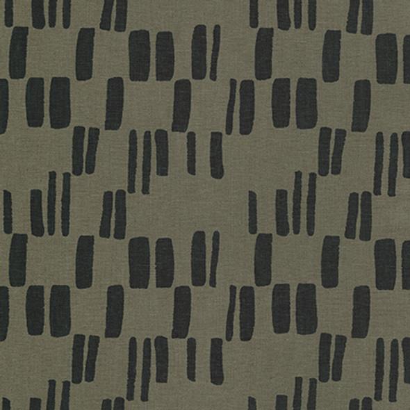 Black pepper modern speck Quarry Trail linen fabric Robert Kaufman fabrics