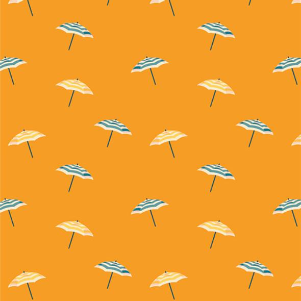 Light orange beach umbrella fabric AGF Seas the Day Citrus cotton
