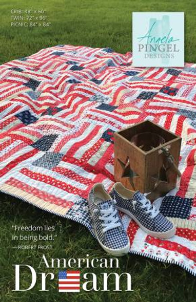 American Flag quilt pattern - Red White Blue quilt American Dream quilt pattern