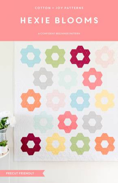 Hexie Blooms quilt pattern Cotton and Joy quilt pattern