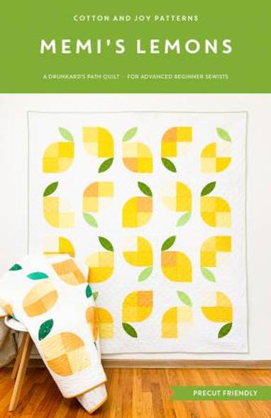 Memi's Lemons quilt pattern Cotton and Joy lemon quilt pattern