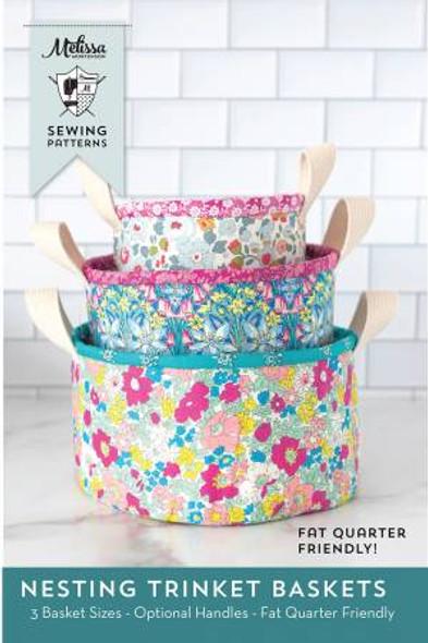 Fabric Baskets sewing pattern - Nesting Trinket Baskets pattern Melissa Mortenson
