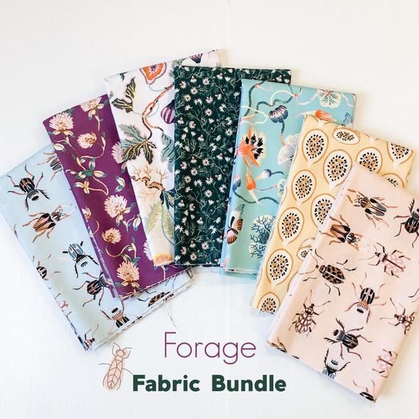 Forage FIGO Fabrics 7 piece fabric bundle - Figo Fabrics quilt cotton bundle