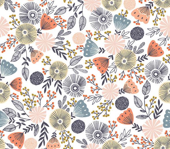 English Garden summer days metallic - RJR Fabrics Summer in the Cotswolds cotton