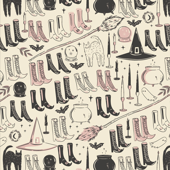Witch's Wardrobe halloween fabric - Spooky n Sweet AGF cotton