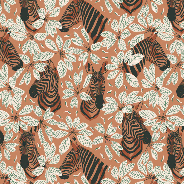 Happy Zebra amber winds quilt cotton RJR Fabrics Magic of Serengeti