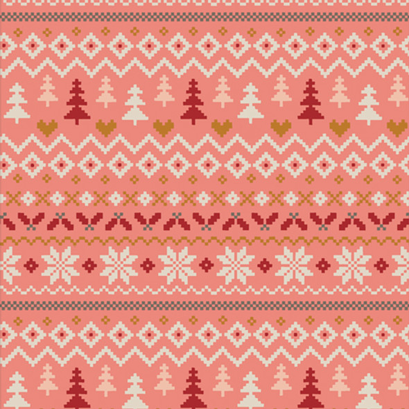 Pink Sweater Holiday cotton fabric - Warm & Cozy Candy AGF quilt cotton