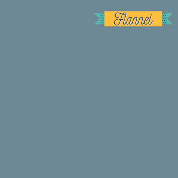 Retro Blue solid FLANNEL fabric - Art Gallery Fabrics Flannel