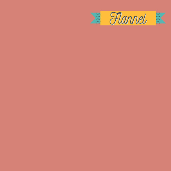 Pink Clay solid FLANNEL fabric - Art Gallery Fabrics Flannel
