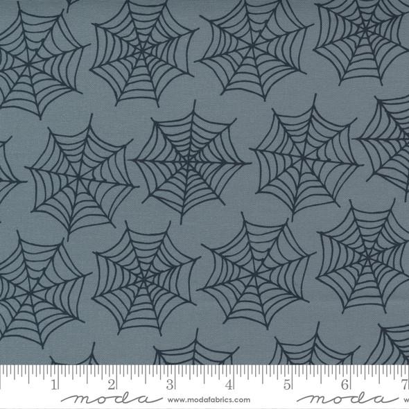 Gray Black Spider Webs - Moda Halloween fabric quilting cotton