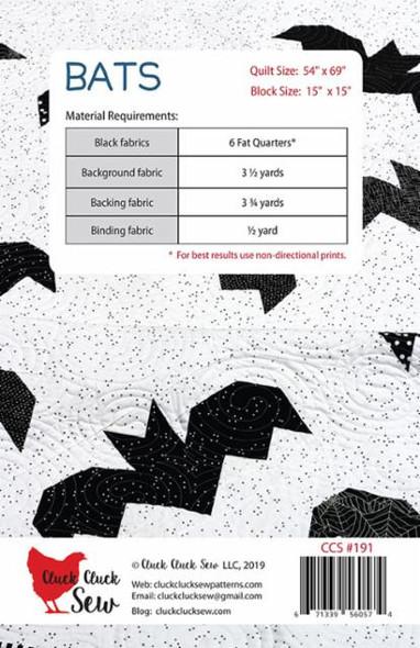 Halloween Bats quilt pattern - Cluck Cluck Sew Bats quilt pattern Halloween
