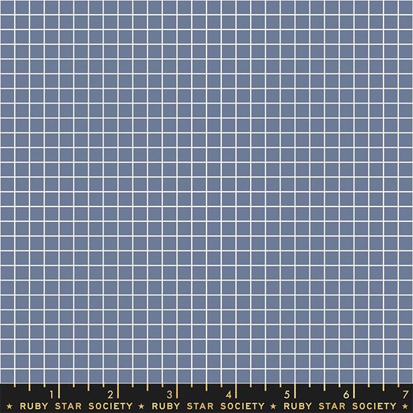 Denim Blue grid quilting cotton fabric Denim Grid Ruby Star Society
