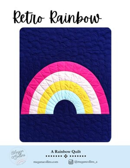 Retro Rainbow Quilt Pattern by Megan Collins printed quilt pattern
