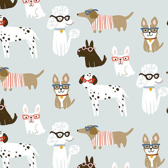 Cool Dogs cotton fabric Dear Stella Vanity Fur modern dog quilt cotton