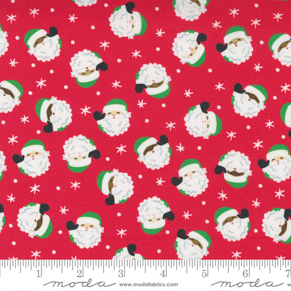 Red Santa cotton fabric Moda Fabrics Holiday Christmas quilt cotton
