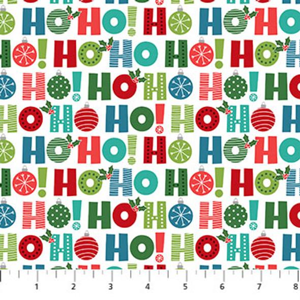 Christmas Word Fabric, Santa Paws Collection,  Northcott Fabrics Seasonal Fabric QTR YD