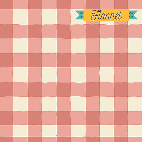 Pink blush plaid flannel fabric - Art Gallery Fabrics Flannel