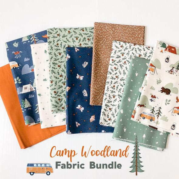 Camp Woodland fabric bundle 9 piece bundle Riley Blake Designs quilt cotton