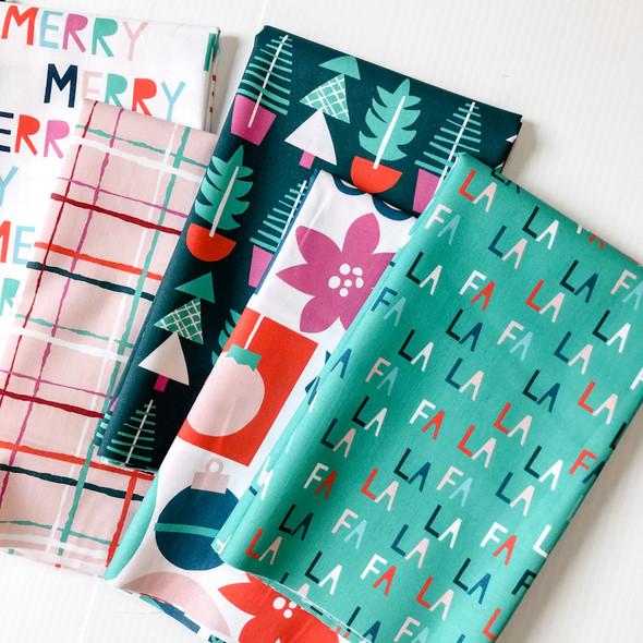 Merry & Bright Holiday 7 piece Fabric Bundle quilt cotton - Paintbrush Studio Fabrics
