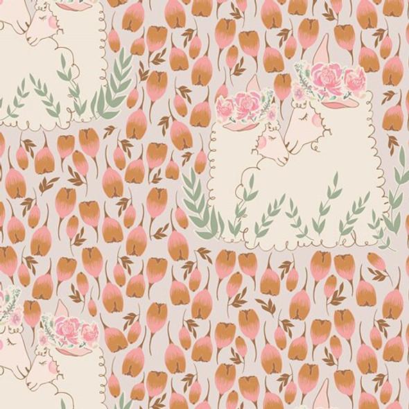 Pastel floral lamb fabrics design