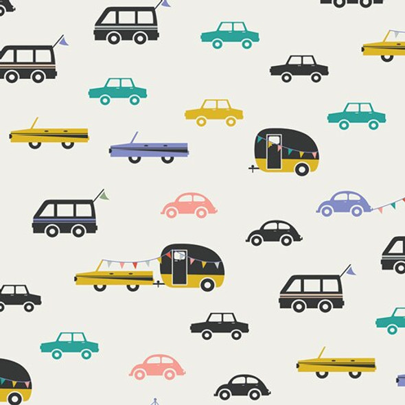 Joyride Day Vintage camper caravan fabrics design