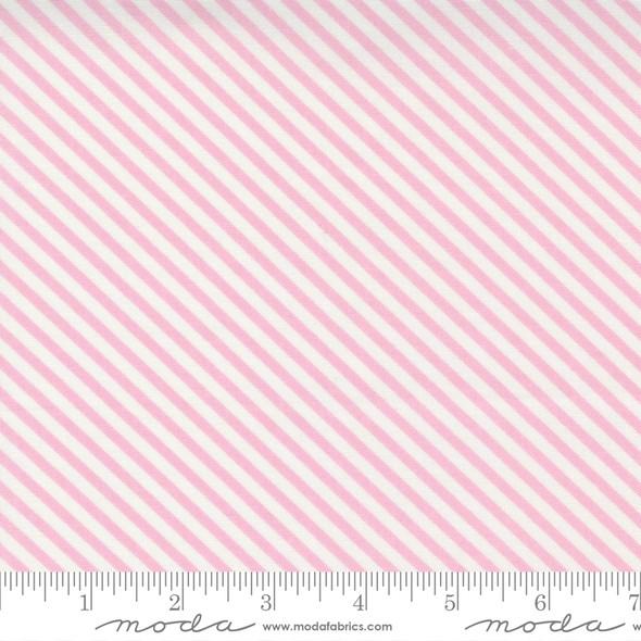 Pink Stripe cotton fabric - Moda Fabrics Make Time quilting cotton fabric