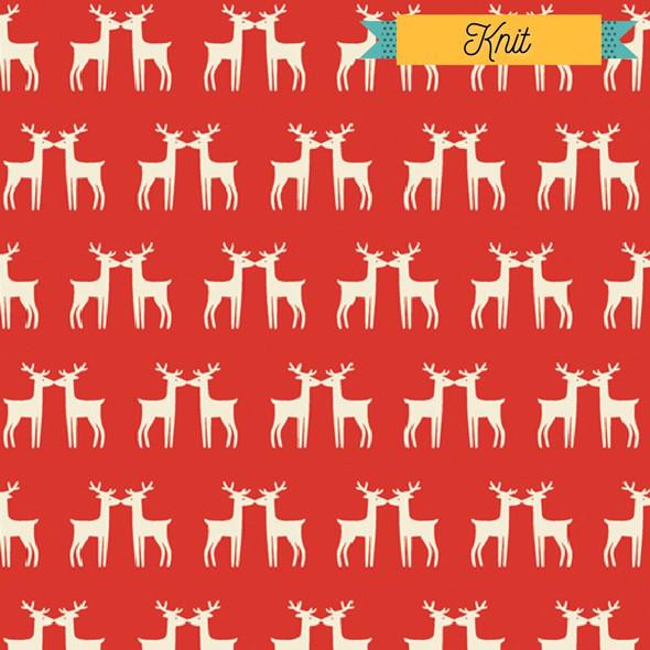 Red Reindeer KNIT Fabrics design